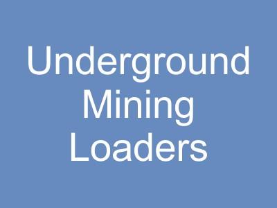 Underground Mining Loaders