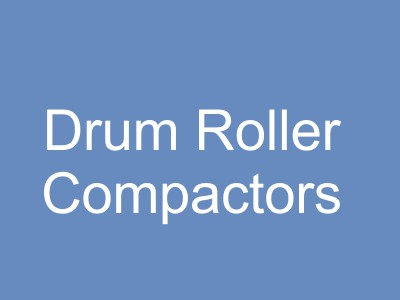 Drum Rollers, Vibratory Rollers, and Compaction Equipment