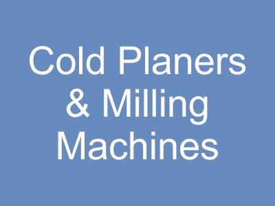 Cold Planers, Recycling, Surface Mining and Milling Equipment