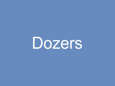 Dozers and Bulldozer Earthworks Equipment